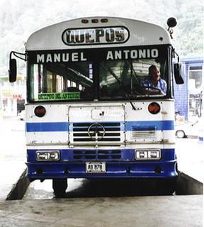 Bus in Manuel Antonio (Costa Rica 2000)