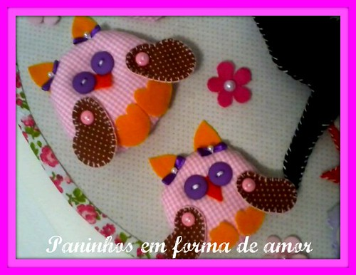 minhas corujinhas. by ♥Paninhos em forma de amor♥