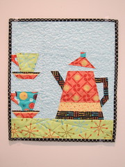 """More Coffee, Please!""  Paper pieced wallhanging."