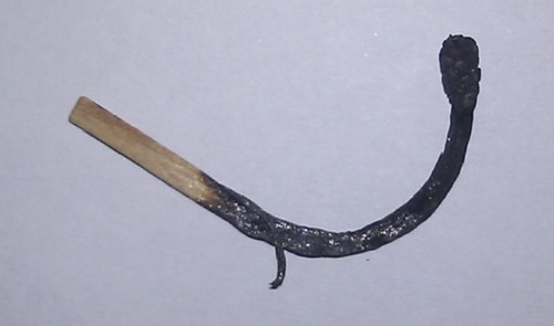 A burnt out onematchstick