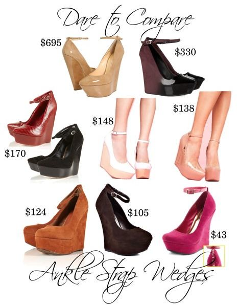 Dare to Compare - Ankle Strap Wedges