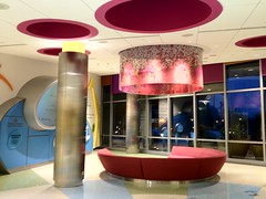 Amplatz tour - lobby is bright, modern, cool