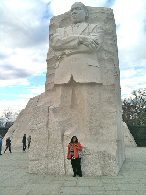 Me at the base of the MLK Memorial, Washington DC, December 2011