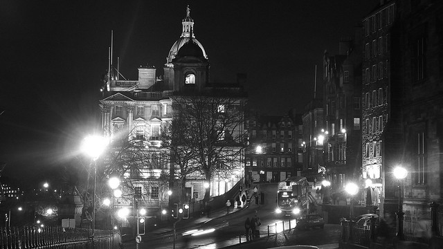 Bank of Scotland building at night 02