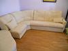 Перетяжка углового дивана и 2-х пуфиков