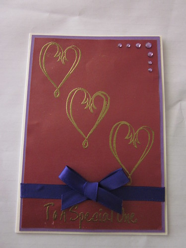 Gold Embossed Hearts