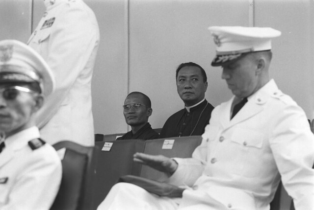 Monk Thich Tam Chau and Bishop Nguyen van Binh - Quoc Khanh 1-11-1965