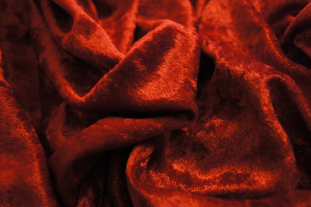 Photo of luxurious fabric to be made into a cape.