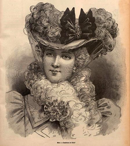 006-Sombrero de Otoño- La Última moda-revista ilustrada hispano-americana, del 19 de septiembre de 1897-copyright MemoriadeMadrid