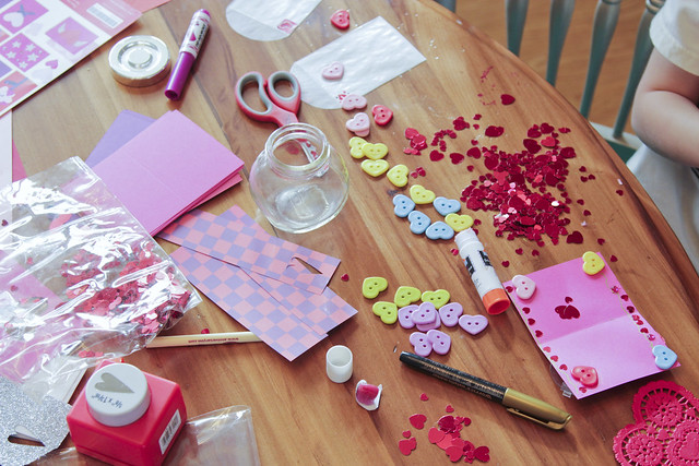 making valentines