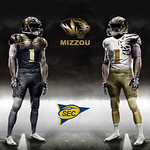 Mizzou Double Tiger White And Gold