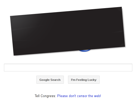 Google protests SOPA/PIPA