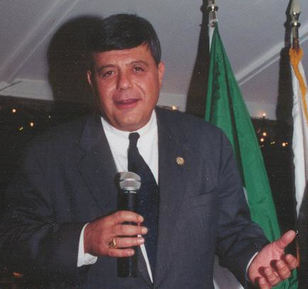Buddy Cianci Giving a Talk at The Gatehouse Restaurant in Providence, RI (c. 1998)