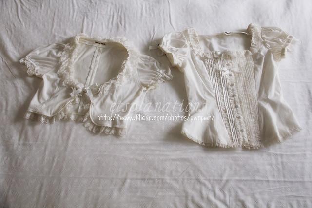 IW Tulle Lace short-sleeved bolero; MM Seraphina Puff Sleeve blouse