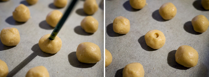 Making peanut biscuits for Chinese New Year
