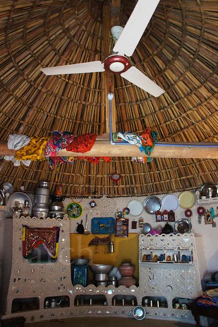 inside a Bhunga near Ludiya...