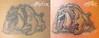 bulldog cartoon ,tattoo,tatuaggio,Ettore Bechis Tatuaggio realizzato da