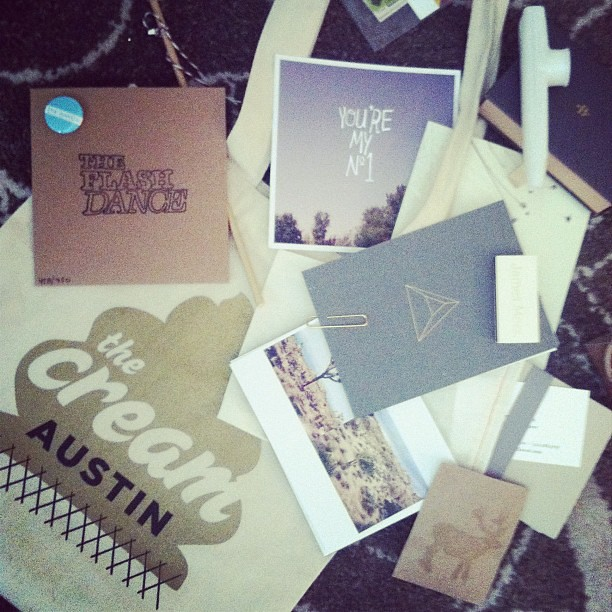 Last nights goodie bag @thecreamevent #austin #roadtrip