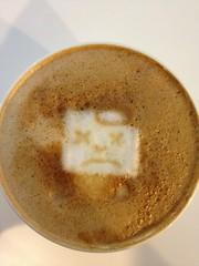 Today's latte, sad chrome. x_x