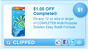 On Any 12 Oz Size Or Larger Of Complete Multi-purpose Solution Easy Rub Formula Coupon