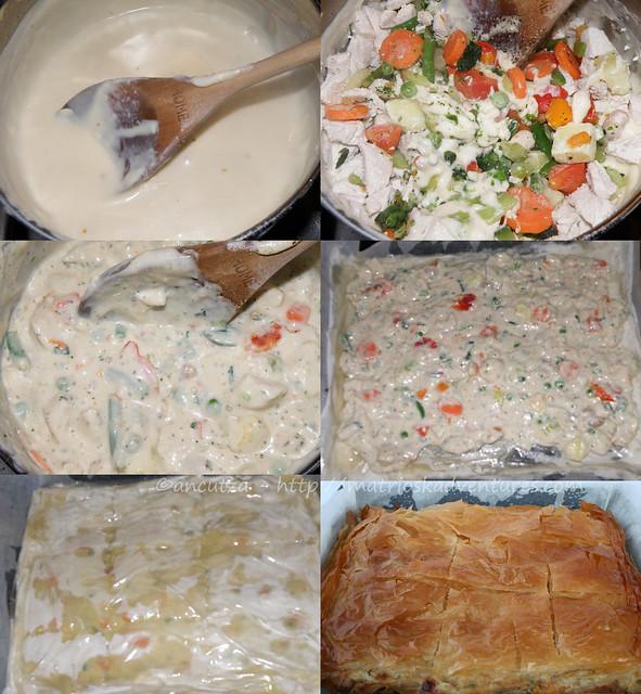 ricetta con foto preparazione torta fillo verdure pollo