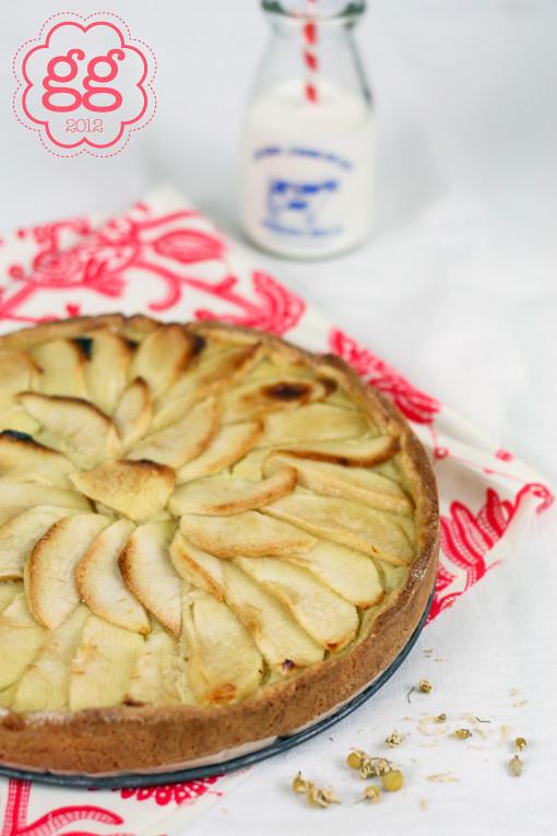torta di mele con crema alla camomilla