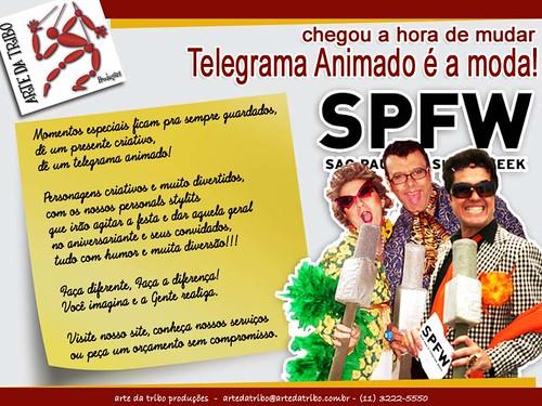 Arte daTribo - Telegrama Animado SPFW - 012012-3 by Arte da Tribo Produções