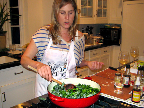 Elana cooking greens