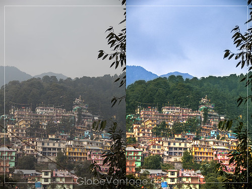 Mcleodganj HDR before and after