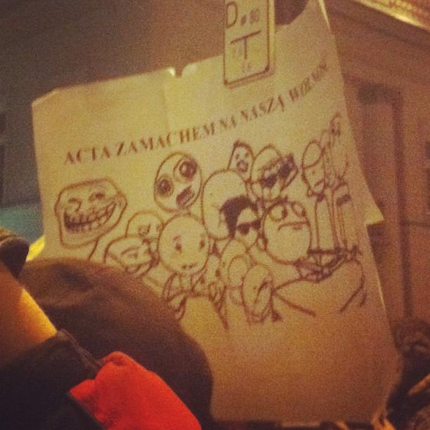 Trollfaces!!! #acta #warsaw
