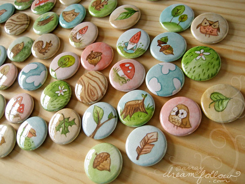 more nature buttons