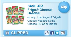 Frigo Cheese Heads String Cheese Coupon