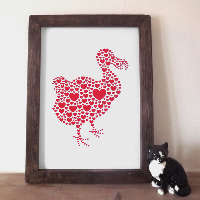 Valentine DODO framed