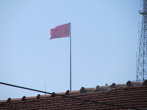 Balikesir: Turkish flag and rooftop