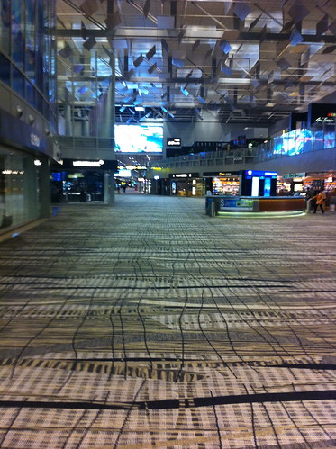 Singapore Changi airport at 3:30 AM