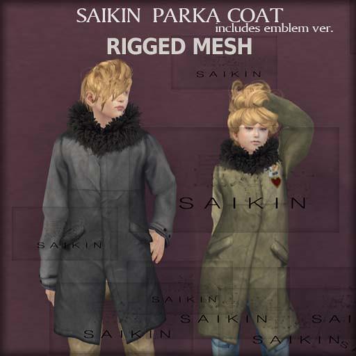 SAIKIN rigged mesh Parka coat
