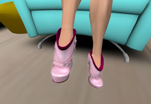 Crystal Line Angelina short boots(light pink) Group gift by Cherokeeh Asteria
