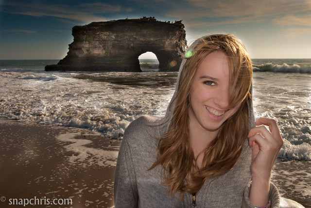 pretty teen girl at natural bridges beach flickr   photo