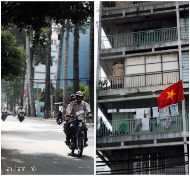 Vietnam - flag + motorbike