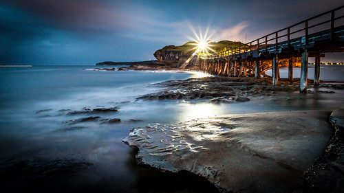 [フリー画像素材] ビーチ・海岸, 海, 桟橋・ドック・船渠, 風景 - オーストラリア ID:201202092000