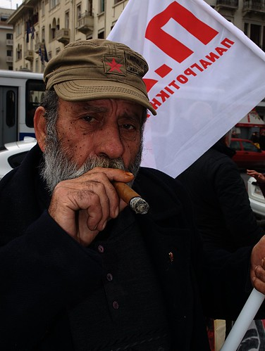 Fidel, mon amour. Greek protester in Thessaloniki by Teacher Dude's BBQ