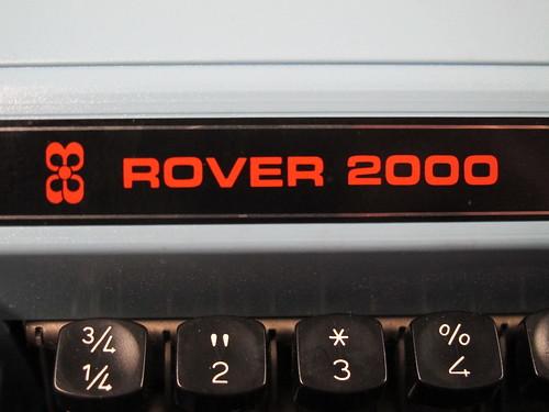 Rover 2000 typewriter
