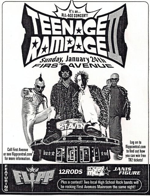 1999-01-24 Teenage Rampage 2 Flyer