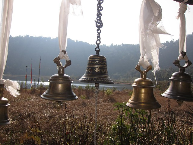 Bells at Khecheopalri Lake