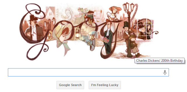 Google Doodle Celebrates Charles Dickens 200th Birthday