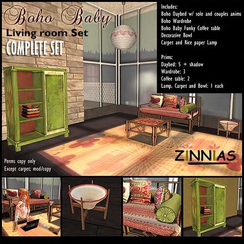 Promo Zinnias Boho Baby Valentines Livingroom set