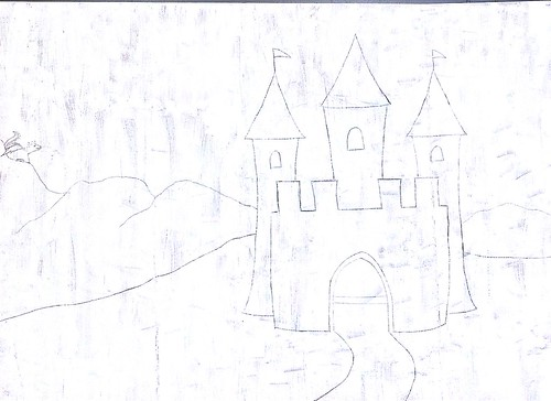 Tall Castle Drawing Castle Pencil Drawing