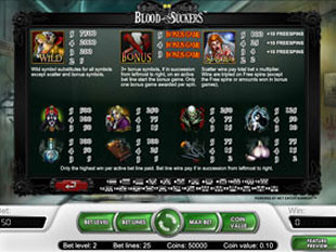 free Blood Suckers slot payout