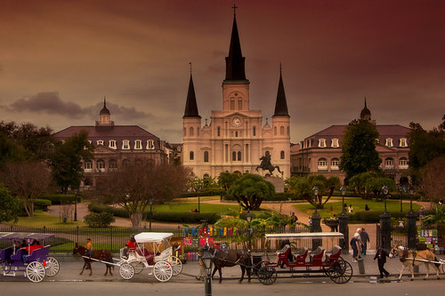 Saint Louis Cathedral in New Orleans, Louisiana