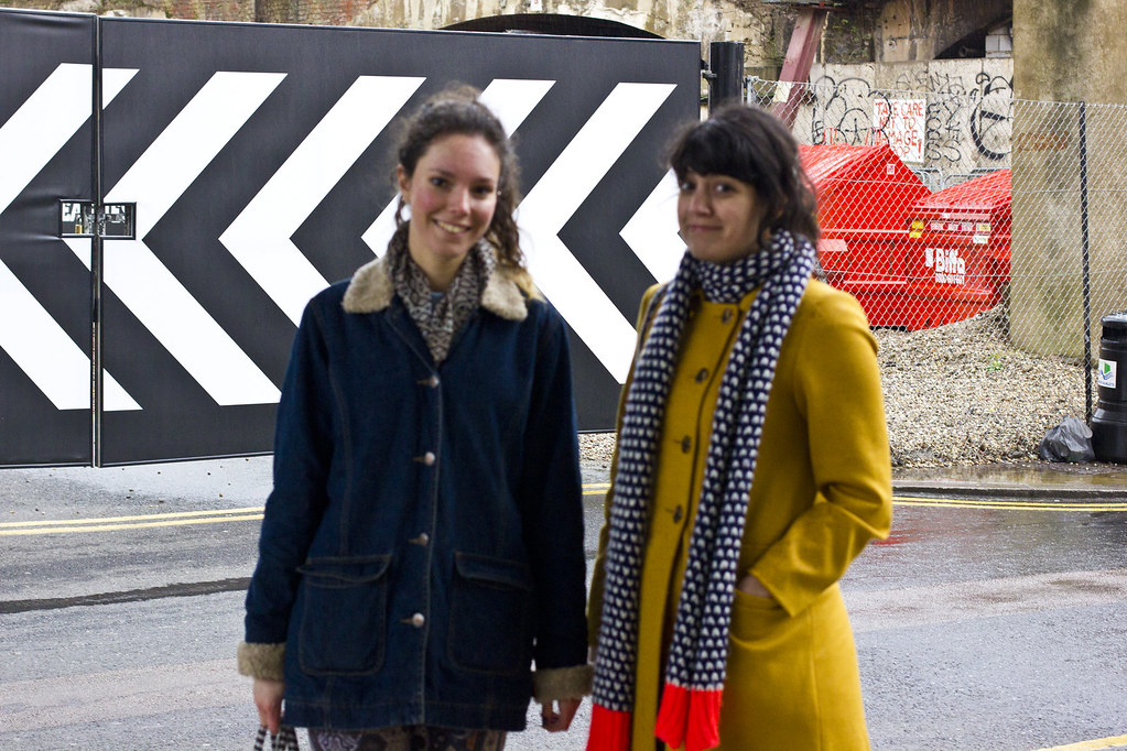 jessthetics tapeparade jess and laila yellow coat navy east london shoreditch high street